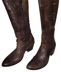 Mark Nason Distressed brown soft leather Boots