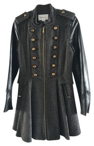 BCBGMAXAZRIA Studded Unique Runway Trench Trench Coat