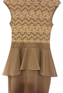 2b bebe short dress Nude on Tradesy