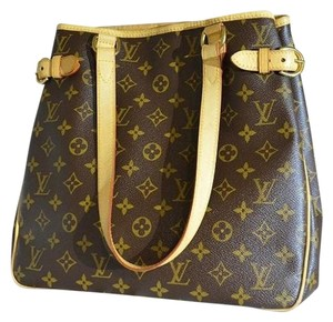 Louis Vuitton Leather M51154 Batignolles Tote in Brown Monogram