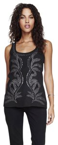 Express Metallic Embroidered Top black