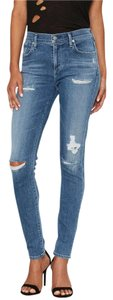 A Gold E Distressed Skinnies Skinny Jeans-Distressed