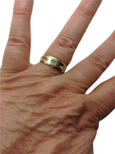 Other 14k Yellow Gold, Diamond, starburst, 7mm wedding band / ring.