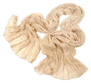 Other Soft Crinkle Long Pure Candy Scarf Wrap Apricot (#8)