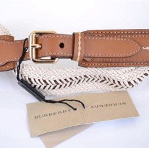 Burberry Glyn NEW $395 Tan Leather Rope belt