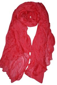 Other Soft Crinkle Long Pure Candy Scarf Wrap Red (#10)