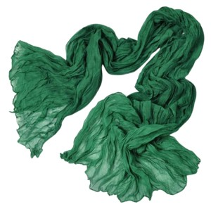 Soft Crinkle Long Pure Candy Scarf Wrap Green (#13)