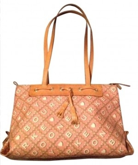 Preload https://item5.tradesy.com/images/dooney-and-bourke-and-white-signature-tassel-pink-tote-170144-0-0.jpg?width=440&height=440
