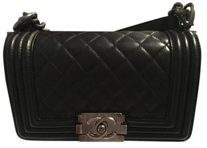 Chanel Lambskin Ruthenium Metal Cross Body Bag