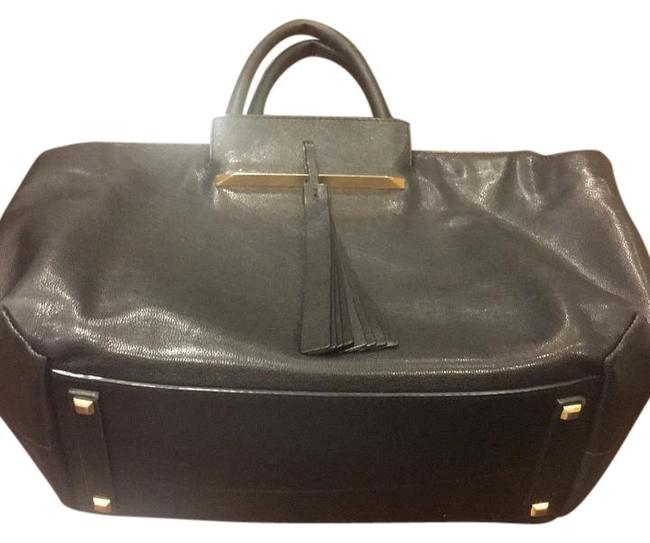 Item - Black and Gold Leather Tote