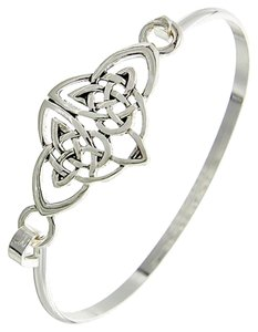 Other Silver Tone Hook Cuff Closure Braclet