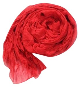 Soft Crinkle Long Red Scarf (#16)