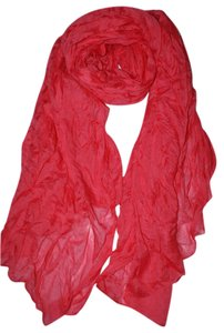 Other Soft Crinkle Long Watermelon Red Scarf (#17)