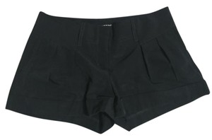 Express Pleated Cuffed Shorts Black