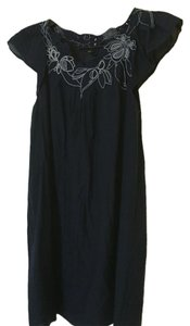 BCBGMAXAZRIA short dress Navy Embroidered on Tradesy