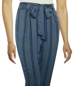 Romeo & Juliet Couture Relaxed Pants Blue and White