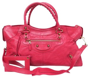 Balenciaga Motocross Classic Part-time Satchel in red