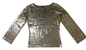 Anne Klein Sequin Top gold