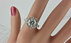 2.60 Ct E/vs2 Round Diamond Solitaire Engagement Ring 14 K Yellow Gold