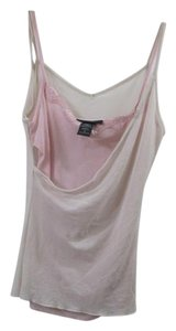 Express 100% Nylon Vintage Retro Top Baby Pink