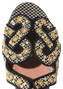 ALAÏA 4s3x551tf05 Woven Raffia Upper Natural/Rouge Sandals