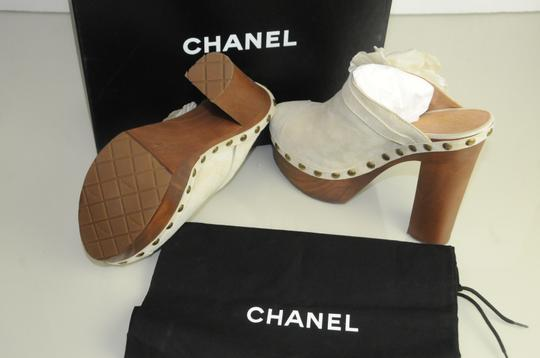 Chanel white Mules