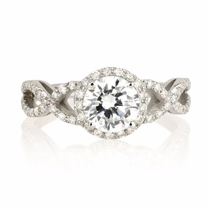 2.59 Ct G/si2 Round Diamond Solitaire Engagement Ring 14 K White Gold(watch Video In Listing Below)