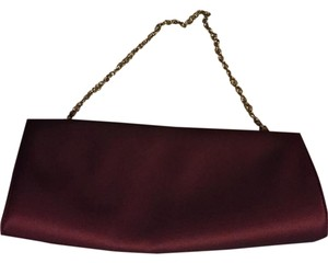 Ann Taylor Evening Red/wine Clutch