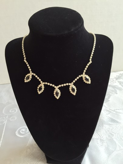 Other Adjustable Cubic Zirconia/Black Crystal Formal Necklace