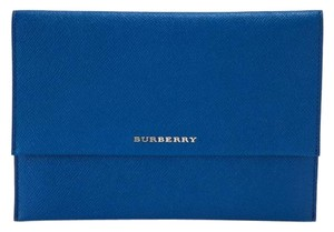 Burberry Night Out Date Night Party Leather Blue Clutch