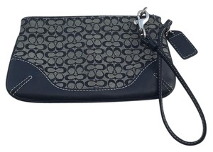 Coach Wristlet in Black/Charcoal