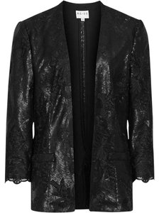 Reiss Lace And Sequin Cyrano Jacket Black Blazer