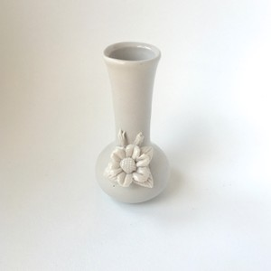 Vintage Shabby Chic White Ceramic Flower Mini Bud Vase