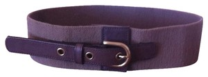 J.Crew J. Crew Brown Cotton & Leather Belt