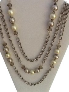 Reduced. Pearl, Crystal and Silver Necklace Chain