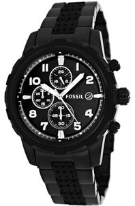 Fossil Fossil Male Dean Watch FS4904 Black Analog