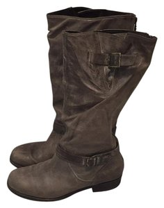 Pour La Victoire Distressed Leather Moto Knee High Motorcycle Distressed Brown Boots