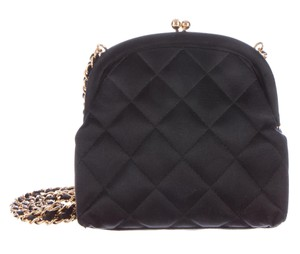 Chanel Kisslock Evening Mini Flap Satin Cross Body Bag