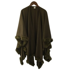Fur Poncho Winter Cape