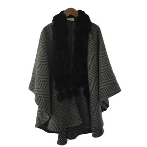 Fur Pinstripe Winter Cape