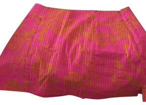 Lilly Pulitzer Mini Skirt Pink and orange