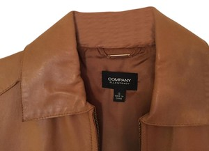 Ellen Tracy Light Brown Leather Jacket