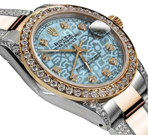 Rolex Ladies 26mm Oyster Perpetual Datejust Jubilee Ice Blue Diamond Dial