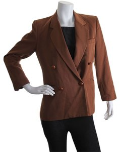 Dior Christian Women's Double Breasted Wool Brown Blazer