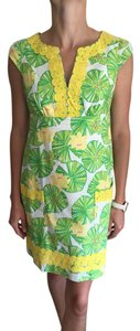 Lilly Pulitzer short dress Green/Yellow Embroidered on Tradesy