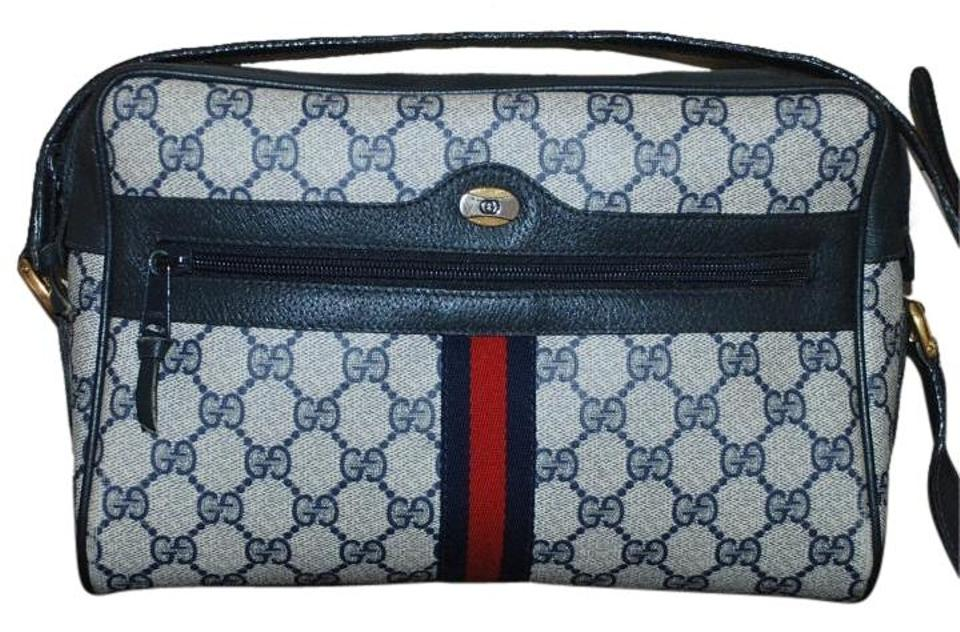 6beee866f9 Gucci Accessory Collection Vintage Italy Monogram Shoulder Blue ...