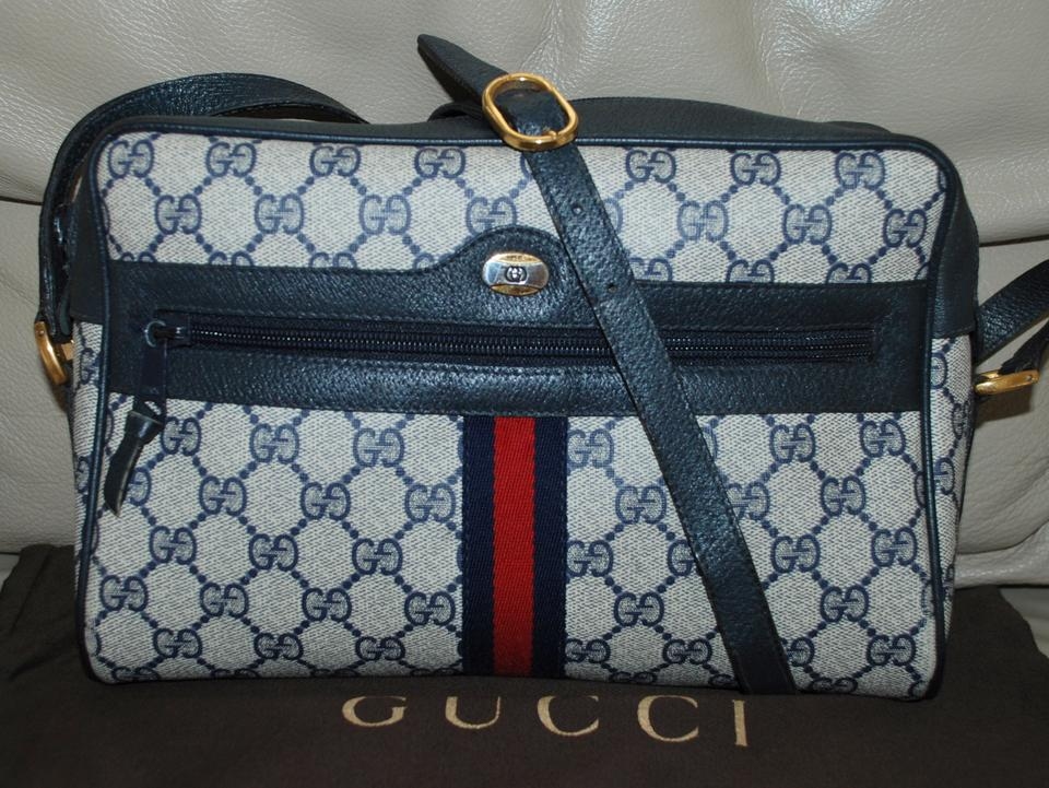 226f668a4c243f Gucci Accessory Collection Vintage Italy Monogram Shoulder Blue ...