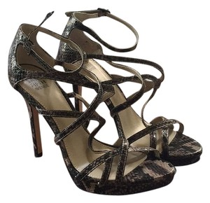 Saks Fifth Avenue Black, brown and tan Platforms