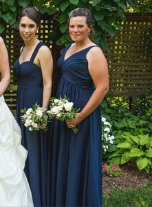 Bill Levkoff Navy Style 485 Dress
