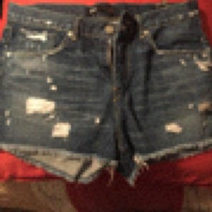 3X1 Cut Off Shorts Blue